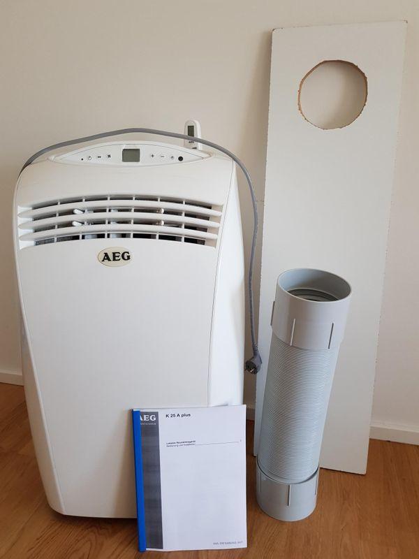 AEG Klimaanlage K25A plus - München Schwabing-freimann - AEG Haustechnik K25A plus Monoblock-Klimagerät 2500W EEK: AWegen Umzug geben wir unsere kaum benutzte rollende Klimaanlage in sehr gutem Zustand zusammen mit Benutzerhandbuch, Fernbedienung und Schlauch ab. Selbst der Schutz - München Schwabing-freimann