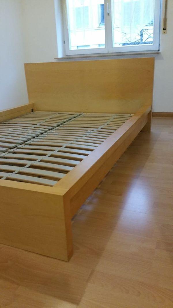 Ikea Malm Bett 140x 200 Inkl Lattenrost Und Nachttisch In Freiburg