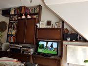 Echtholz Eiche maron Wohnzimmerstollenwand