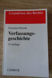 Verfassungsgeschichte Jura Grundrisse des Rechts