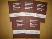 5 Bände Historische Beiträge zur