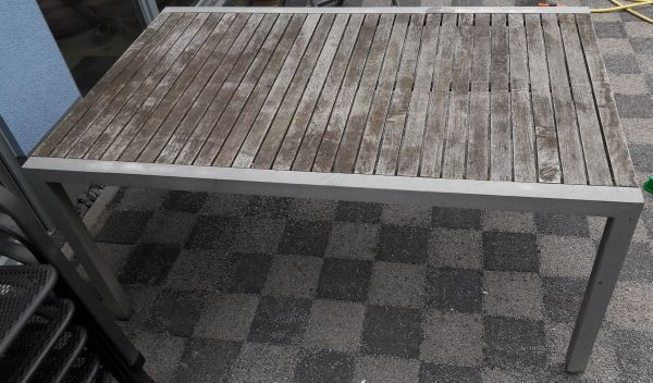 Gartentisch Aus Holz Metall 160