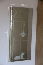 Wandspiegel Motivspiegel mit Gravur