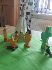 HOLZTIGER Holzfiguren - Indianerlager