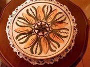 Erzgeb DDR - Keramikteller handbemalt