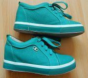 Mädchenschuhe Sneakers Schnürschuh grün Gr