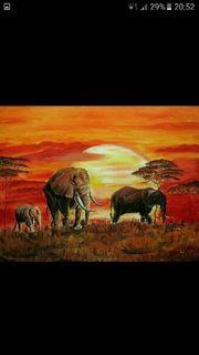 Bild AFRIKA handgemalt