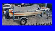 Motorboot-Sportboot-Angelboot-BEKRO-Kadet-25PS-mit-Trailer