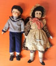 2 Sammler-Puppen Mädchen Junge Engel-Puppe