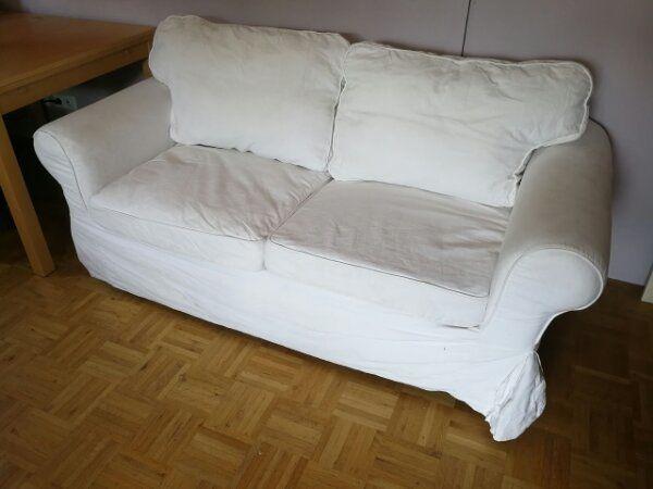 Ikea Ektorp Sofa ~ Red and white christmas living room from ikea with beige ektorp
