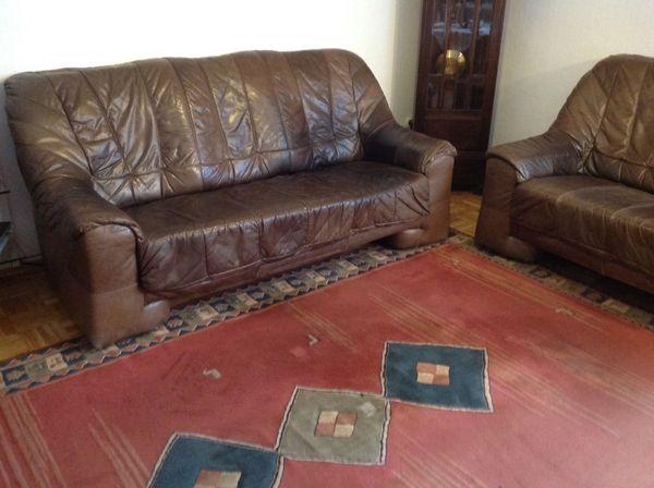 Sofa Couch 2 Und 3 Sitzer Leder Braun In Ottobrunn Polster