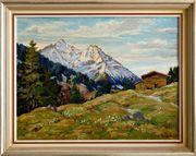 MeisterGemälde RUDOLF PFANNENSTIEL 1888 Bergwiese