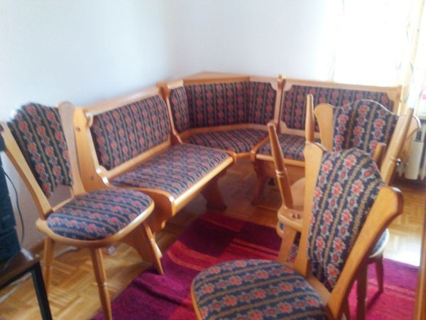 eckbank holz gebraucht kaufen nur noch 2 st bis 70. Black Bedroom Furniture Sets. Home Design Ideas