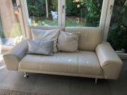 2 Leder-Sofas von Musterring günstig abzugeben