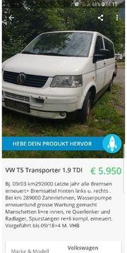 Vw T5 Transporter 1 9TDI