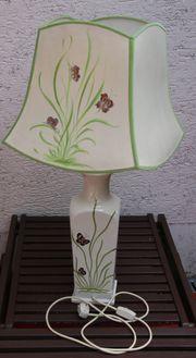 große Tischlampe Porzellanfuß