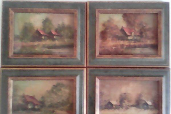 Die vier jahreszeiten, » Kunst, Gemälde, Plastik