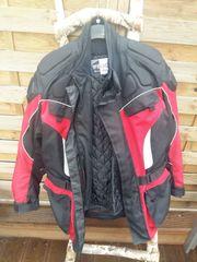 Motorrad-Textiljacke in XXL mit integrierten