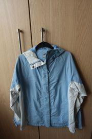 Regenjacke Damenjacke Windjacke gefüttert blau