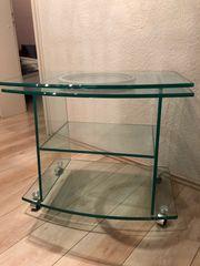 TV-Konsole aus Glas