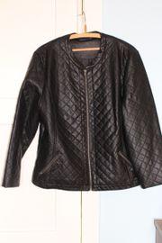 Lederjacke schwarz Gr