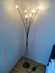Stehlampe in schwarz