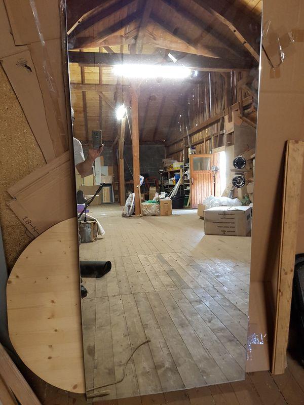 zimmer t rblatt eiche wei mit spiegel 735x1985mm in germaringen t ren zargen tore. Black Bedroom Furniture Sets. Home Design Ideas