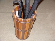 Schirmständer Papierkorb Mahagoni Kiefer nachhaltig