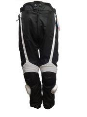 Textil Motorradhose schwarz weiß