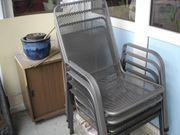 4 Gartenstühle aus Metall sehr