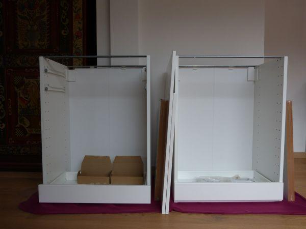 2 IKEA Küchenunterschränke \'Metod\' mit Veddinge-Fronten weiß - NEU ...