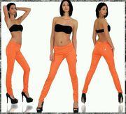 Leggins Jeggins in Blau Orange