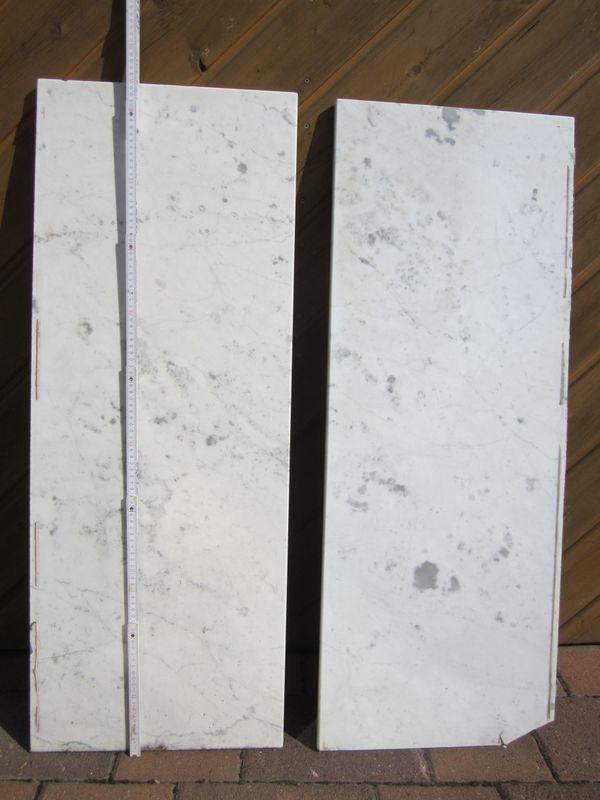 Zwei Marmor-Fensterbänke gebraucht in grau-weiß abzugeben in ...