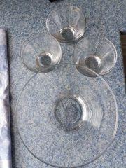Glasschale mit 6 Schälchen