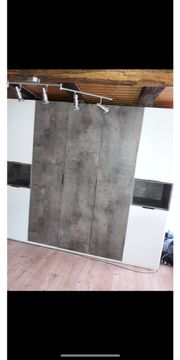 Kleiderschrank Beton-Optik