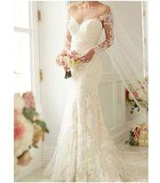 Elegantes Brautkleid in Ivory mit