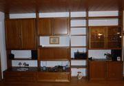 Wohnzimmer-Stollenwand Eiche rustikal