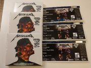 Metallica Tikets mit Touralbum für
