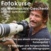 Geschenk Gutscheine für Fotokurse umfangreiches