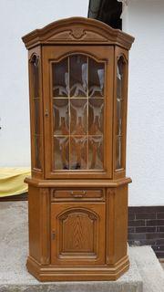 eckvitrine eiche rustikal with eck vitrine