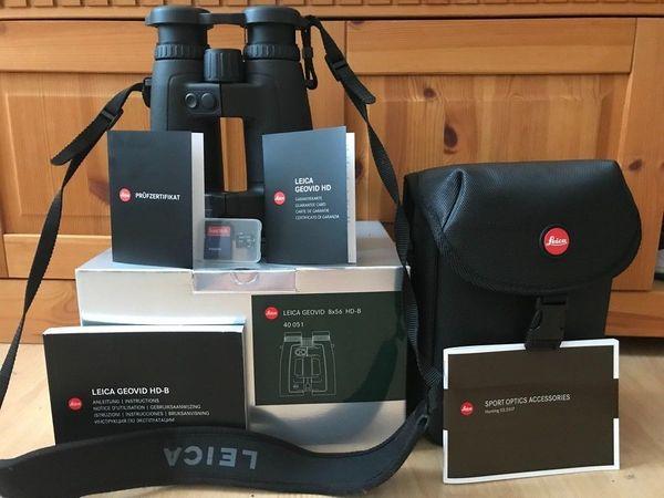 Leica geovid 8x56 hd b entfernungsmesser und ballistikfunktion