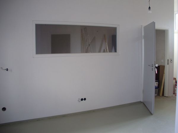 Isolierglas Fensterscheibe mit Rahmen ein