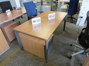 Schreibtisch Rollcontainer in Buche