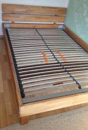 Bett Buche massiv mit Lattenrost