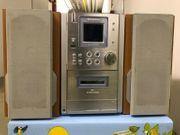 CD Kompaktanlage silber 2 Lautsprecher