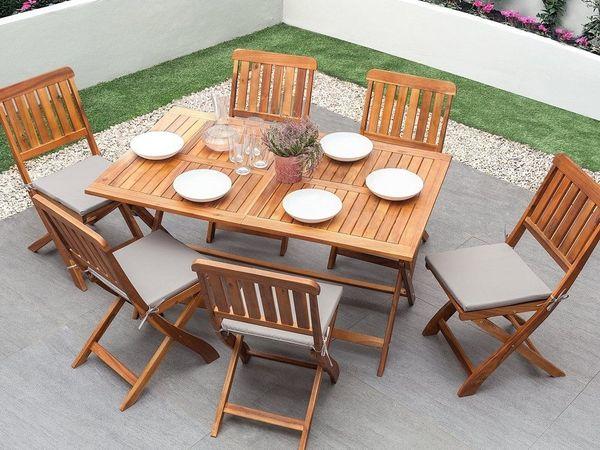 Gartenmobel Set Holz 6 Sitzer Cento Beliani In Berlin Kaufen Und