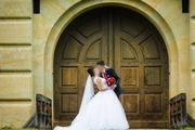 Hochzeitskleid (Brautkleid), Brautschleier,