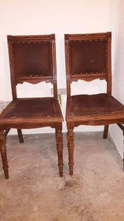 Antike Stühle Restaurieren München 2 x freischwing stühle wössner mit echtleder in münchen