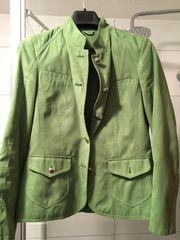 Jacke grün Velours-Leder-Optik