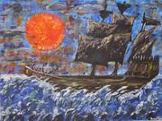 Geisterschiff Originalgemälde Acrylbild auf Leinwand